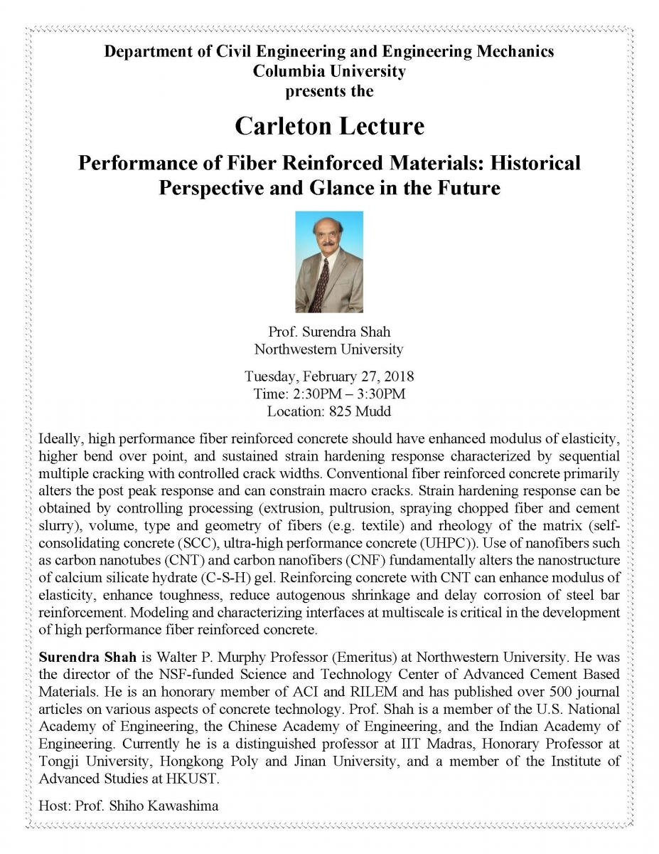 Historical Perspective and Glance in the Future, presented by Prof. Surendra Shah of Northewestern University.